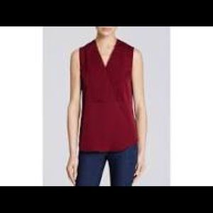 Theory Red Silk Blouse